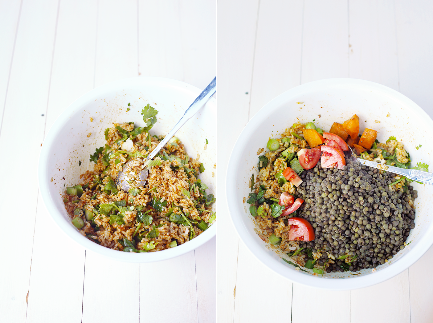 The tastiest Vegan Brown Rice Black Lentil Salad you'll ever try! #vegan #veganfood #salads #healthy #lentil