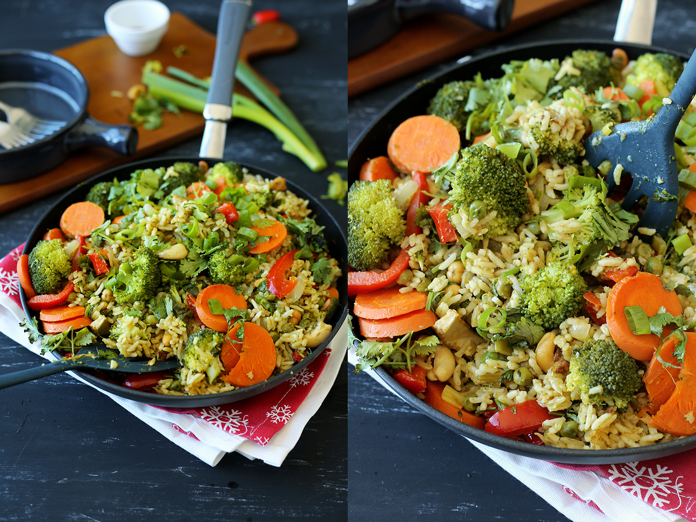Thai Green Curry Fried Rice Crazy Vegan Kitchen